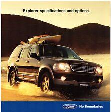 Ford explorer spécification 2004 australiens dépliant brochure xlt limited
