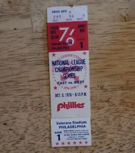 1976 National League Championship Series Phillies Vs Reds Ticket