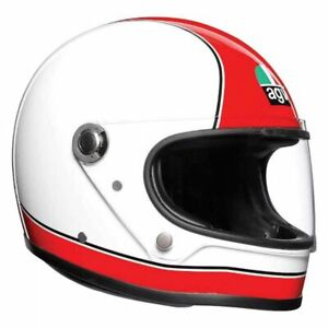 AGV X3000 FULL FACE RETRO MOTORCYCLE HELMET CLASSIC SUPER RED WHITE S MS ML L XL