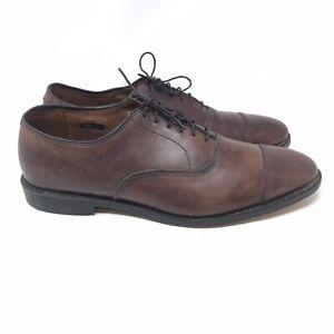 Allen Edmonds Park Avenue Leather Dress Shoes 10.5 Burgundy Brown Oxford Cap Toe