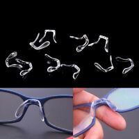 2x silicona antideslizante Stick en la nariz almohadillas Pad gafas de *ws