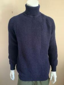 Thick Chunky Fisherman Cable Wool Roll Neck Aran Jumper - see description