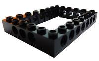 Lego Technikstein 6x8 mit Loch in schwarz (40345) Rahmen Lochstein Stein Neu