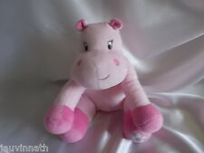 "Doudou hippopotame rose, grelot, ""Arthur et Lola"", Bébisol"