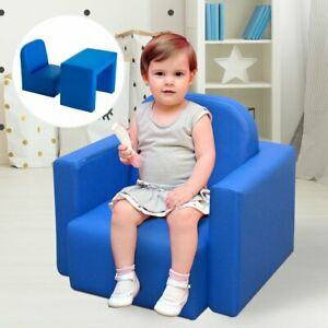 Kids 3 In 1 Table and Chair Set, PVC-Blue