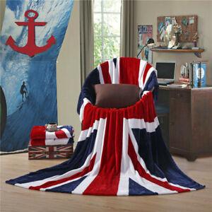 Union Jack Blanket Bedspread Bed Sofa Throw