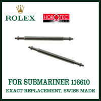 ♛ ROLEX Exact Replacement 20mm Single Flange Spring Bars For Submariner 116610 ♛