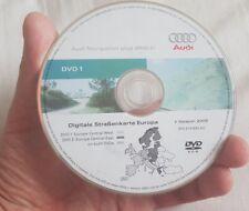 ORIGINALE AUDI RNS-E 2004-2009 Disco di navigazione DVD NAVIGATORE SATELLITARE MAPPA 2009 software 0650