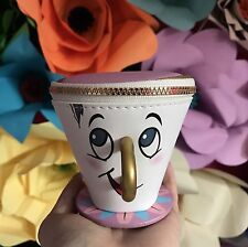 LIMITED EDITION DISNEY FAN CHIP CUP COIN JEWELRY PURSE BEAUTY AND THE BEAST