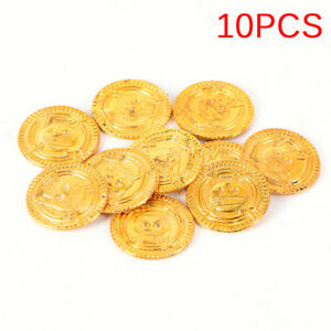 10PCS Plastic Pirate Gold Play Coins Birthday Party Favors Treasure  DDYUAU