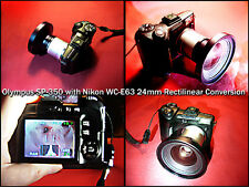 Olympus SP350 with Nikon Wide Angle WC-E63 Lens +CR-V3 Battery+Charger+2gbXD
