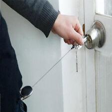 Men Metal Key Chain Retractable Recoil Ring Pull Belt Clip Key Fob Card Holder