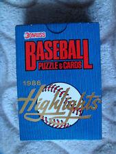 1986 Donruss Highlights baseball card set Bo Jackson Canseco rookie Mantle