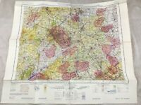 1966 Vintage Militare Map East Occidente Midlands Topographical Volo Carta Raf
