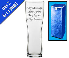 Personalised Engraved Aspen Pint Glass With Gift Box - Any Message Engraved!!