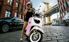FREE SHIP Heritage 150cc Moped Vintage Gas Scooter Retro Motorcycle + Windshield