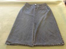 Women's Long Denim Skirt Riveted By Lee 14 Medium Stretch