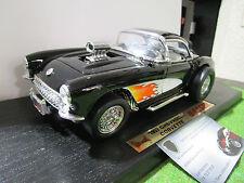 CHEVROLET CORVETTE GASSER de 1957 noir au 1/18 d YATMING 92019 voiture miniature