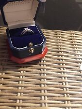 3 Princess Cut Natural Diamond Engagement Ring