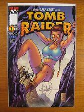 Wow! TOMB RAIDER #1 **2X SIGNED! MICHAEL TURNER! DAN JURGENS!** COA!