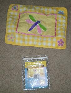 EUC Olive Kids Flowerland Standard Pillow Sham - Yellow & White Gingham
