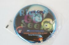 Tokyo Disney Resort Button TDL Monsters Inc Ride & Go Seek Grand Opening 2009