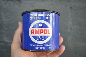 Vintage – Ampol Multi Purpose RED 500g Grease Tin
