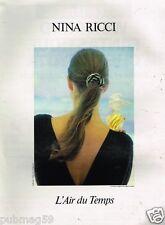 Publicité advertising 1990 Parfum L'Air du Temps Nina Ricci par David Hamilton