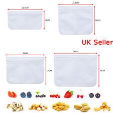 Silicone épais aliments sacs de stockage congélateur Réutilisable Seal Ziplock b...