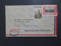 Uruguay 1954 Airmail Cover to USA - Z8119