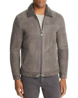 John Varvatos Mens Limited Edition Lamb Shearling Suede Jacket M (IT 50) Grey