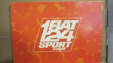 "SALE!! Vintage 1970's FIAT 124 SPORT ""COUPE""  Colored Brochure-14 Pages!"