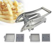 Potato Chipper Slicer Chip Cutter Chopper Maker Stainless Steel French Fry Tool