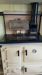 1950's Rayburn No 2 Solid Fuel Cooker Boiler & Plate Rack