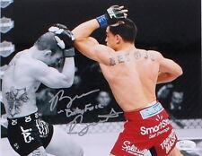 "RYAN ""BABY FACE"" BENOIT vs JOSH SAMPO SIGNED UFC FINALE 8x10 JSA WITNESSED COA"