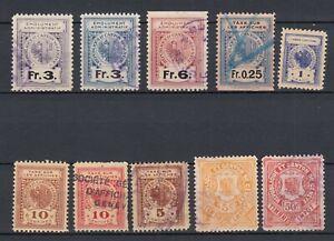 Switzerland Revenue Stamps, GENEVE CANTON