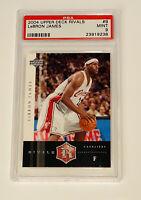 POP 2 - 2004 Upper Deck Rivals #9 Lebron James RC Rookie - PSA 9 MINT - Rare