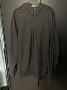 Men's Adidas Grey Zip Up Hoodie Large
