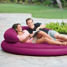 Nouveau Intex Gonflable circulaire Day Air Lit Fauteuil Indoor/Outdoor-Violet