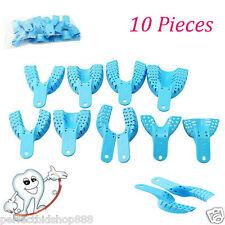 10pcs Lightblue Dental Impression Trays Autoclavable Uniquely Design & Durable o