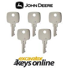 John Deere (Set of 5)  Excavator Key for all Graders,Dozers, Skid steer