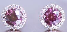 Fancy Pink Natural Diamond 0.75 carat 14k Stud Earrings WG Valentineday Spl.Sale