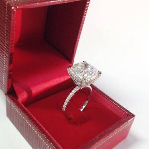 Cushion Cut 2.20 Ct Diamond Ladies Wedding Engagement Ring 10K White Gold Finish