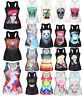 Womens 3D Graphic Printed Tank Tops Vest Blouses Gothic Punk Sleeveless T-Shirts
