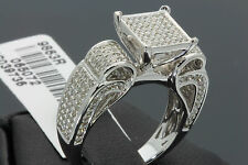 1.07 CARAT WOMENS LADIES WHITE GOLD FINISH DIAMOND ENGAGEMENT WEDDING RING BAND