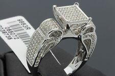 1.07 CARAT WOMENS LADIES WHITE GOLD FINISH DIAMOND ENGAGEMENT WEDDING RING BAND