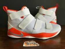 67f705e53ae NIKE LEBRON SOLDIER 11 XI TB WHITE ORANGE 943155 110 US MENS SZ 15