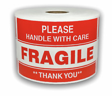 Please Fragile Handle With Care Shipping Warning Stickers 500 Labels 3x5