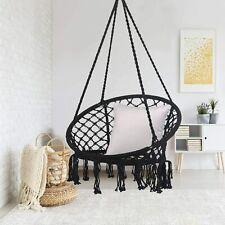 Hanging Cotton Rope Macrame Hammock Chair Swing Outdoor Indoor Home Garden US