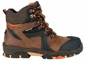Cofra Ramses S3 Lace up Safety Brown Work Gore-Tex Leather Toecap Boots